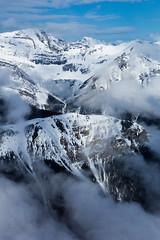 Top of the World (ellieupson) Tags: aerial mountain peak mist blue snow rockies canmore canada banff alberta nationalpark cloud sky