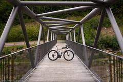 Orient auf der Brücke (Torsten Frank) Tags: alpen architektur erc1400spline47 fahrrad gebirge italien jguillem laufrad orient quarq radfahren radsport redetap redetaphrd rennrad sram schaltgruppe sobrettagaviagruppe tal valtelina veltlin dtswiss brücke stahlfachwerkbrücke stahlbrücke bike bicycle cycling roadbike