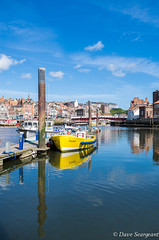 Dash (daveseargeant) Tags: boat sea coast sky sunny harbour leica x typ 113 whitby north yorkshire reflection