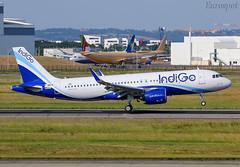 F-WWIN Airbus A320 Neo Indigo (@Eurospot) Tags: fwwin airbus a320 neo indigo 9031 lfbo toulouse blagnac
