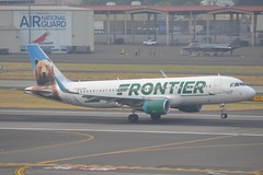 N227FR (LAXSPOTTER97) Tags: frontier airlines airbus a320 a320200 n227fr cn 6184 airport airplane aviation kpdx