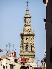 torre campanario exterior Concatedral de Santa Maria de la Redonda Logroño La Rioja 01 (Rafael Gomez - http://micamara.es) Tags: españa logroño esp larioja concatedral santa de la torre exterior maria rioja campanario redonda
