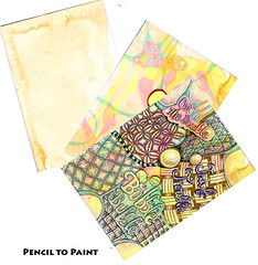 Tea Party - Pencil to Paint tutorial (Life Imitates Doodles) Tags: mixedmedia tea arttutorial