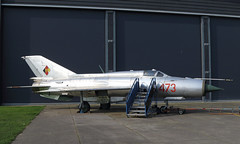 MiG (Treflyn) Tags: mikoyan gurevich mig21spsk mig mig21 fishbed 473 east german air force stands outside hanger lelystad aviodrome netherlands