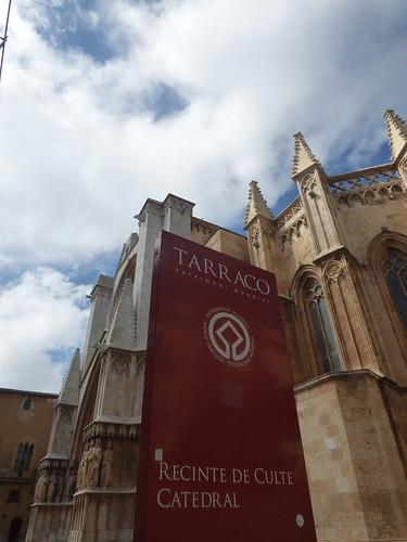 Tarragona Cathedral from Carrer de les Coques, Tarragona - Tarraco Patrimoni Mundial - Recinte de Culte Catedral