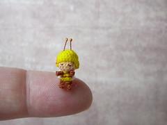 147-bee 12mm (1) (tinyteensdolls) Tags: amigurumi amigurumidoll crochet craft crochetmini crochettoy crochetminiature crochetdoll bee miniature microcrochet mini micro minicrochet miniamigurumi tinyamigurumi toy tiny threadcrochet handmade insect