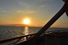 Sunset after Leaving CARTAGENA (1) (John Carson Essex UK) Tags: supersix sunset rainbowofnature photographyvision cruise cruiseships sunsetoverthesea