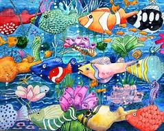Shemer Ruja phishellation (hanks students artwork) Tags: watercolor advanced hpsc 2019 tessellation