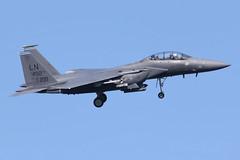 USAF F-15E Strike Eagle (nickchalloner) Tags: 970221 97221 mcdonnell douglas boeing f15e f15 strike eagle 492 492nd fs fighter squadron 48 48th fw wing liberty raf lakenheath royal air force lkz egul usaf usafe united states america ln