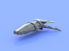 Experimenting & Fiddling around (LEGOHungary) Tags: lego wip ship space thing tablescrap ldd bluerender render study