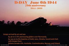 D-Day June 6, 1944 (caz.caswell) Tags: dday 75thanniversar bandofbrothers omahabeach utahbeach junobeach swordbeach goldbeach june6th1944 dday75yearanniversay19442019 c47 dakota daks dc3 skytrain raf usaaf rcaf thelongestday britishforces us forcescanadianforces australianforces czechaslovakianforces frenchforces norwegianforces polishforces alliedforces spitfire p51 mustang p47 thunderbolt b25 mitchell rafkemble jacksonvilleintl duxford bigginonthebump hamiltonintl shoreham flyinglegends tfc thefightercollection ddayjune61944