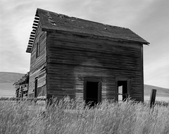 Abandoned Farmhouse, Washington (austin granger) Tags: abandoned farmhouse washington time decay weathered wood grass impermanence film largeformat chamonix evidence