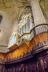 coro silleria y organo interior Concatedral de Santa Maria de la Redonda Logroño La Rioja (Rafael Gomez - http://micamara.es) Tags: españa logroño esp larioja concatedral santa de la y maria interior organo rioja redonda coro silleria