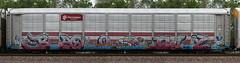 Bozo/Bubz (quiet-silence) Tags: graffiti graff freight fr8 train railroad railcar art bozo bubz etc rtd h2 autorack ferromex ttgx705710