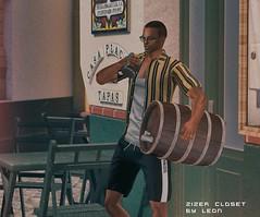 #82 (Leon Miranda) Tags: skin birth pac catwa new sunglasses ds nancy the liaison collaborative beverage junk food ale barrels final winter event shirt chucks jamie tmd mens dept short galvanized line shorts