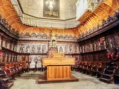 coro silleria interior Concatedral de Santa Maria de la Redonda Logroño La Rioja 02 (Rafael Gomez - http://micamara.es) Tags: españa logroño esp larioja concatedral santa de la maria interior 02 rioja redonda coro silleria