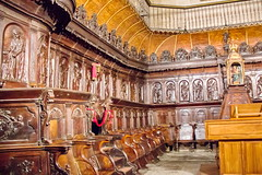 coro silleria interior Concatedral de Santa Maria de la Redonda Logroño La Rioja 01 (Rafael Gomez - http://micamara.es) Tags: españa logroño esp larioja concatedral santa de la maria interior 01 rioja redonda coro silleria