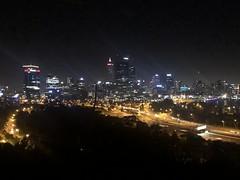 Perth skyline from King's Park (David Jones) Tags: westernaustralia perth night skyscraper park king'spark