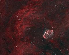 The Crescent Nebula (DocRX) Tags: astronomy astrophysics astrophotography astrofotografia universe universo galaxy galassia nebula nebulosity nebulosa cielo notte stella stelle stars night sky cosmos cosmic telescope telescopio takahashi fsq106ed mach1gto lodestar qsi crescent ngc ngc6888 6888