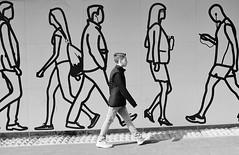 Walking with Giants.... (markwilkins64) Tags: towerhill london uk streetphotography street candid blackandwhite mono monochrome bw walking step juxtaposition markwilkins