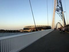 The Optus Stadium from the Matagarup Bridge (David Jones) Tags: westernaustralia perth swanriver matagarupbridge bridge optusstadium stadium