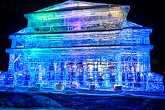Ice sculpture (stasmyagkov) Tags: ice sculpture moscow russia park pobedy colorful winter night
