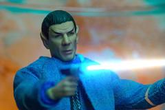 Orange and Teal Spock (misterperturbed) Tags: mezco mezcoone12collective one12collective startrek spock misterspock lensflarestudio nikon nikkor nikkor55300dx vibrationreduction nikond610