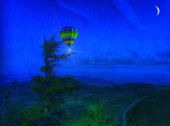 Adirondack Mountains - Whiteface Mountain - Lake Placid  -  New York - Hot Air Balloon - Night (Onasill ~ Bill Badzo) Tags: adirondack mountains whiteface mountain lake placid new york ny state highest us usa america high peaks view vermont canada skyscrapers montreal canon eos rebel sl1 sigma macro wilmington sky clouds forest ski winter olympic 1980 area summit motorvehicle onasill landmark essexcounty franklincounty great depression deal fdr veterans hwy highway public works sun flares sunset landscape sign ocean pinnacle top peak 4867 ft feet sea rays ballon balloon air night bluehour moon crescent hotair