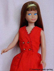 VINTAGE MOD COLOR MAGIC SKIPPER BARBIE DOLL w/ RED SENSATION OUTFIT (laika*2008) Tags: vintage mod color magic skipper barbie doll w red sensation outfit