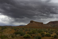 Morning thunderstorm brewing in the desert (swissuki) Tags: landscape largelandscape nature sky hurricane usa utah ut desert