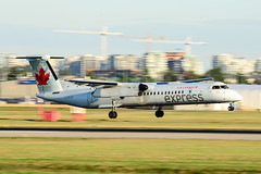 CYVR - Air Canada Express De Havilland Canada DHC-8-400 C-GXJZ (CKwok Photography) Tags: