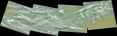 Cloudy Gale Crater 3, variant (sjrankin) Tags: 5june2019 edited nasa mars msl curiosity galecrater panorama output colorized bayerdecoded clouds weather sky haze