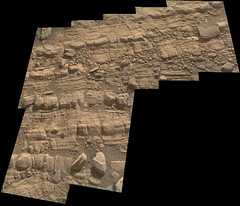 Cracked Rock Panorama 2 (sjrankin) Tags: 5june2019 edited nasa mars msl curiosity galecrater panorama layers rocks cracks dust sand