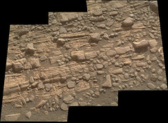 Cracked Rock Panorama 4 (sjrankin) Tags: 5june2019 edited nasa mars msl curiosity galecrater panorama layers rocks cracks dust sand