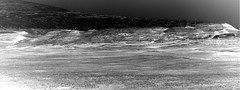 Mount Sharp and Foothills, variant (sjrankin) Tags: 5june2019 edited nasa mars msl curiosity galecrater grayscale navcam mountsharp mountain sky haze hills nrb611704561edrs0751916ncam00595m