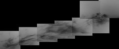 Cloudy Gale Crater 1, variant (sjrankin) Tags: 5june2019 edited nasa mars msl curiosity galecrater panorama grayscale clouds weather sky haze