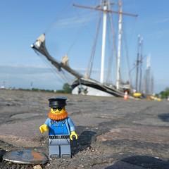 Am Thiessenkai (captain_joe) Tags: thiessenkai kiel holtenau toy spielzeug 365toyproject lego minifigure minifig schiff ship tallship