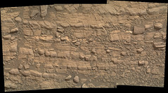 Cracked Rock Panorama 5 (sjrankin) Tags: 5june2019 edited nasa mars msl curiosity galecrater panorama layers rocks cracks dust sand