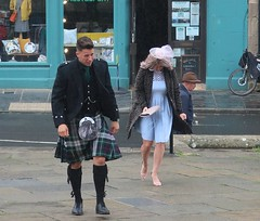 Scotland Colours - 1 Wedding and No Funeral (Pushapoze (MASA)) Tags: uk scotland orkney kirkwall wedding kilt tartan guests rain pluie marriage invites ecosse parapluies umbrella explore