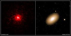 Markarian 1216 Montage (sjrankin) Tags: edited nasa 5june2019 chandraspacetelescope galaxy xray hubblespacetelescope markarian1216
