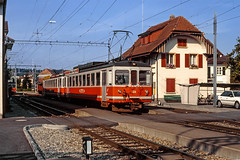 BTI BDe4/4 504 (maurizio messa) Tags: bti bde44 bieltäuffelenins bern switzerland svizzera schmalspurbahn elettromotrice mau bahn ferrovia yashicafxd treni trains triebwagen triebzug triebzuge railway railroad railcar