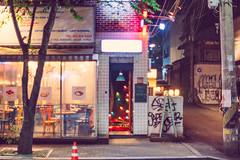 Mystery night club (Jon Siegel) Tags: street city urban beautiful mystery architecture bar club night 50mm lights cafe nikon places seoul colourful 12 nikkor southkorea exploration spaces hongdae hongik examination 50mmf12ais 50mmf12 d810