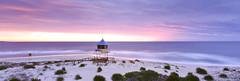 Entrance Sunrise (rubberducky_me) Tags: theentrance centralcoast beach ocean water sunrise tower lifeguard purple sun beachlife velvia linhof linhoftechnorama617iiis film panorama 31