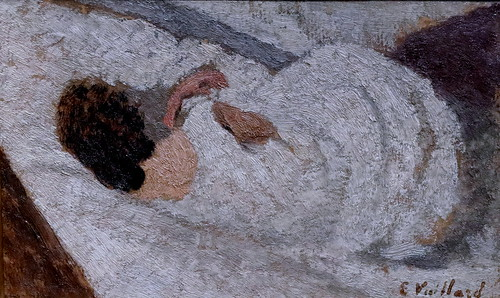 IMG_9744 Edouard Vuillard. 1868-1940. Paris.  Femme couchée de dos.  Woman lying back.  vers 1891.   Paris Orsay.