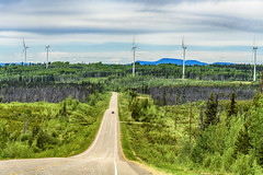 Tumbler Ridge Wind Turbines (jbarc in BC) Tags: tumblerridge north bc peaceriver road highway windturbines forest trees wilderness car nikonz7 energy renewable power turbines