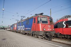 SBB Re 4/4 421 383 + 421 394 Bregenz (daveymills37886) Tags: sbb re 44 421 383 bregenz 11383 baureihe cargo 394 11394
