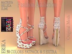 ERIKA SHOES ORIGINAL MESH (Owner Fashion Addiction) Tags: vanity event secondlife maitreya shoes belleza slink fashion fashionaddiction physique hourglass venus freya isis