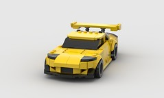 Render - Mazda RX-7 FD of Initial D (KMP MOCs) Tags: mazda rx7 fd rotary lego legocar legomoc moc mocs gt racer car racecar initiald keisuke drift driftcar toy grandtourer anime stage4 jdm fd3s