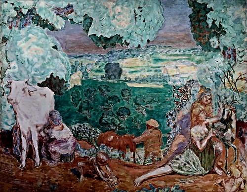 IMG_9711 Pierre Bonnard. 1867-1947. Paris.   La Symphonie pastorale.   The pastoral symphony.  1920.  Paris Orsay.