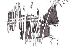 Hase-Dera Temple Complex, Kamakura. April 2019 (stevefaradaysketches) Tags: hasederatemple kamakura japan urbansketch urbansketchers usk inkdrawing illustration onlocation fineliner penandinksketch temple bamboo negativespace